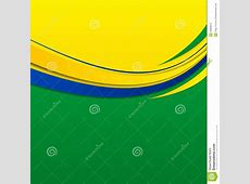 Abstract Wavy Background In Brazilian Colors Stock Vector