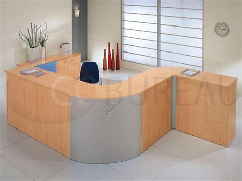 comptoir bureau comptoir d 39 accueil droite kamos l 165 cm