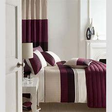 Plum Purple Beige And Cream Stripe Bedding Plain Purple