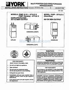 York P2mp Series Installation Instructions Manual Pdf