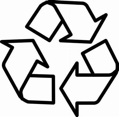 Recycling Symbol Outline Recycle Printable Clip Coloring