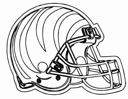 Coloring Pages Football College Helmet Printable Teams