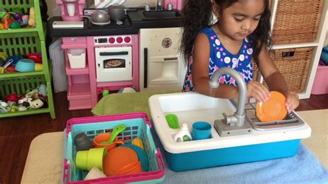 toddler kitchen sink with running water play kitchen sink with a running water faucet
