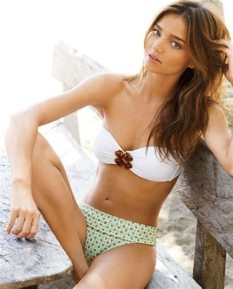 Miranda Kerr Sexy Victorias Secret Model X Hot Whitegreen Bikini Photo Ebay