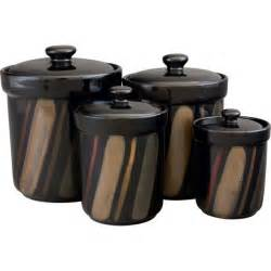 black kitchen canister sets sango avanti black canister set of 4 17526169 overstock com shopping top sango