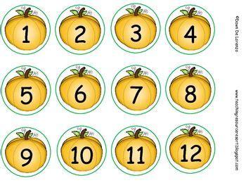 pumpkin muffin tin labels numbers   fall