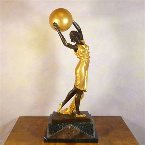 deco bronze sculpture dancer statues