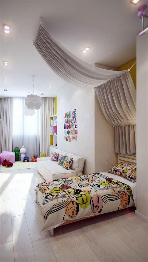 Modern White Kids Room Interior Design Ideas
