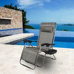Akoyovwerve, Oversized, Zero, Gravity, Chair, Patio, Lounge, Chair, Folding, Lawn, Chair, Outdoor, Gray