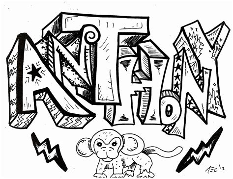 Hip Hop Graffiti Kleurplaat by Anthony Hip Hop Coloring Book Compiled By Jamee