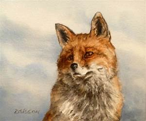 Daily Painting Projects: Red Fox Watercolor Painting ...