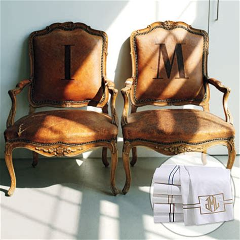 isaac mizrahi monogram pillows chair frog hill designs