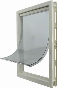 plastic frame dog door activedogscom With plexiglass dog door