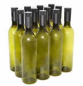 Plastic Wine Bottles & Screw Caps, Green, 750ml