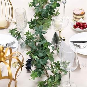 efavormart, 6, ft, green, artificial, young, clover, leaf, garland, green, vines, for, wedding, decor