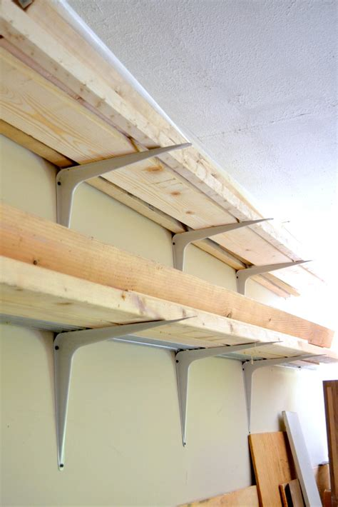 garage storage shelf brackets cheap and easy diy lumber rack the duckling house