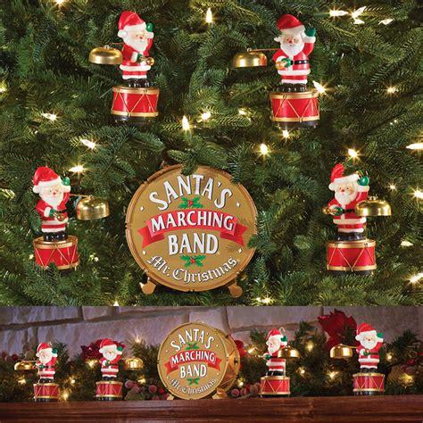 christmas santas marching band coordinated caroling