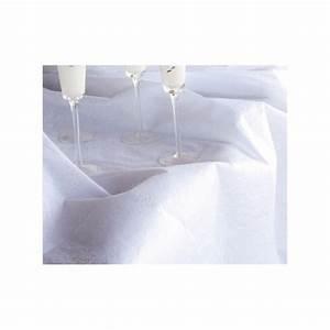Nappe Blanche Tissu : nappe rectangle diamant blanche en tissu non tiss ~ Teatrodelosmanantiales.com Idées de Décoration