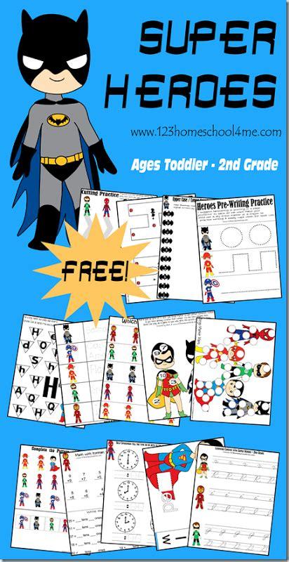 super heroes worksheet printables pack