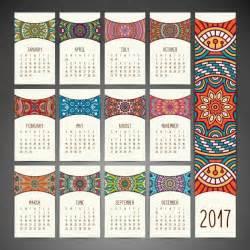 calendar design boho style calendar design vector free