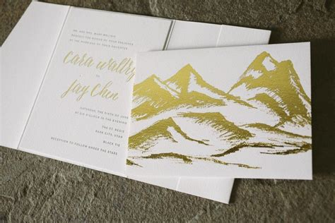 Rustic + Elegant Wedding Invitations In Black And Gold
