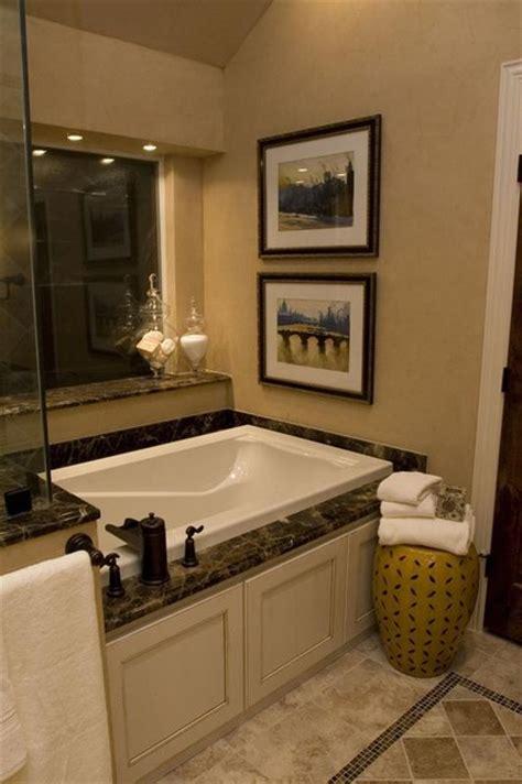 traditional tub small but quaint master bath traditional bathroom