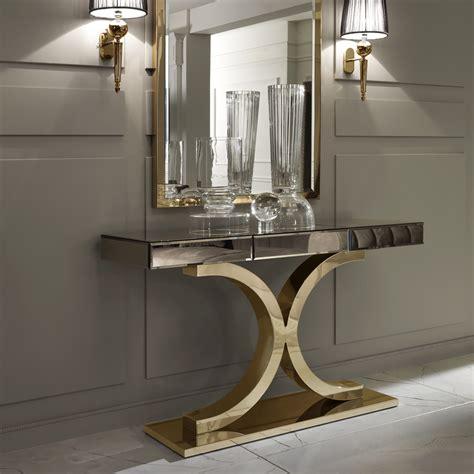 bronze table ls for living room designer italian bronze mirrored glass modern gold console