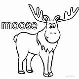 Moose Coloring Pages Cartoon Printable Colouring Cool2bkids sketch template