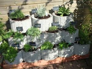 Garten Bepflanzen Ideen : pflanzsteine mal anders kr uterbeet garten und ~ Lizthompson.info Haus und Dekorationen