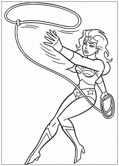 Wonder Woman Coloring Coloriage Dessin Heroine Colorier