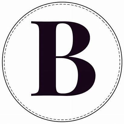 Banner Circle Letters Letter Printable Alphabet Capital