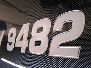 3d lettering boat jetski registration numbers domed With 3d domed boat lettering