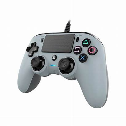 Ps4 Controller Nacon Wired Grey Side Koodoo