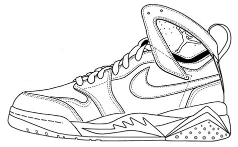 Coloring Nike Air 1 by Nike Shoes Coloring And Sketch Drawing Pages Coloring Pages