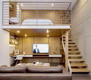 Lit à étage : 1001 jolies id es comment am nager votre chambre mezzanine ~ Teatrodelosmanantiales.com Idées de Décoration