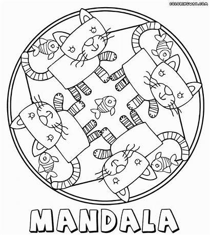 Mandala Coloring Pages Cat Mandalas Printable Unique