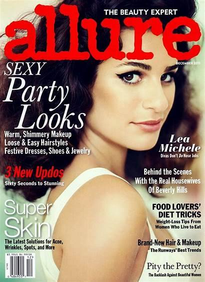 Allure Lea Michele Magazine Makeup Covers Beauty