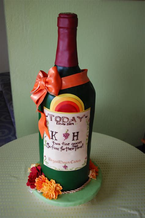 wine bottle cake   special gals elegant cheese cakes