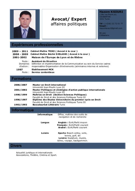An Expert Resumean Expert Resume by Hazemksouri Cv Avocat Expert