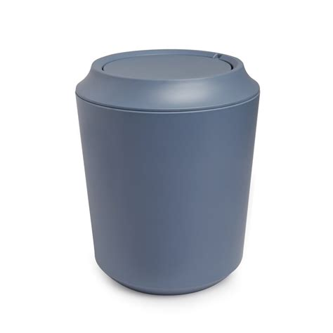 Bad Abfalleimer Design by Umbra Fiboo Bathroom Waste Bin Mist Blue Black By Design