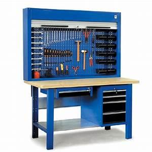 Etabli D Atelier : etabli d 39 atelier quip avec armoire porte outils ~ Edinachiropracticcenter.com Idées de Décoration