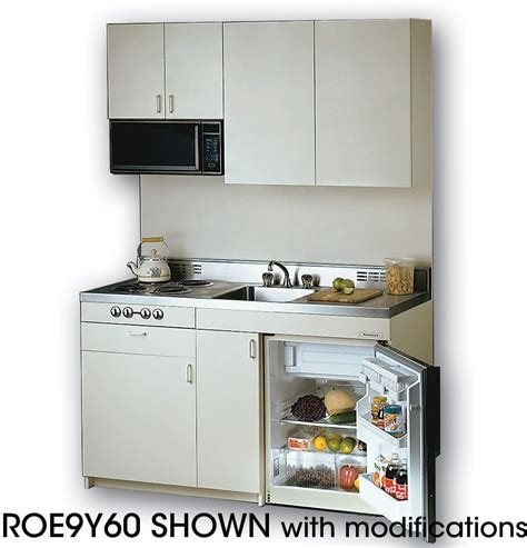 Acme Rog Compact Kitchen With Stainless Steel Countertop