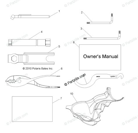 Polaris Side Oem Parts Diagram For References