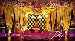 Grand Wedding Mehendi Stage decoration ideas in Pakistan