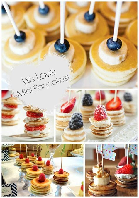 Food Ideas For A Baby Shower Brunch - mini pancake stacks brunch foods that rock