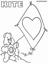 Kite Coloring Pages Colorings sketch template