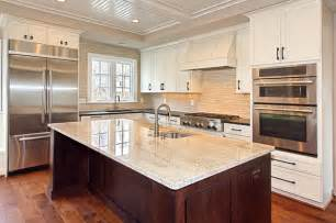 custom stained hickory flooring traditional kitchen other by mountain lumber company