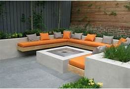 Garden Bench Seating by Charlotte Rowe Courtyard Garden With Built In Bench Seat Fixed To Rendered