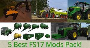 5 Best FS17 Mods Packs according to downloads!