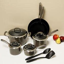 shop farberware affiniti porcelain  piece cookware set  shipping today overstock
